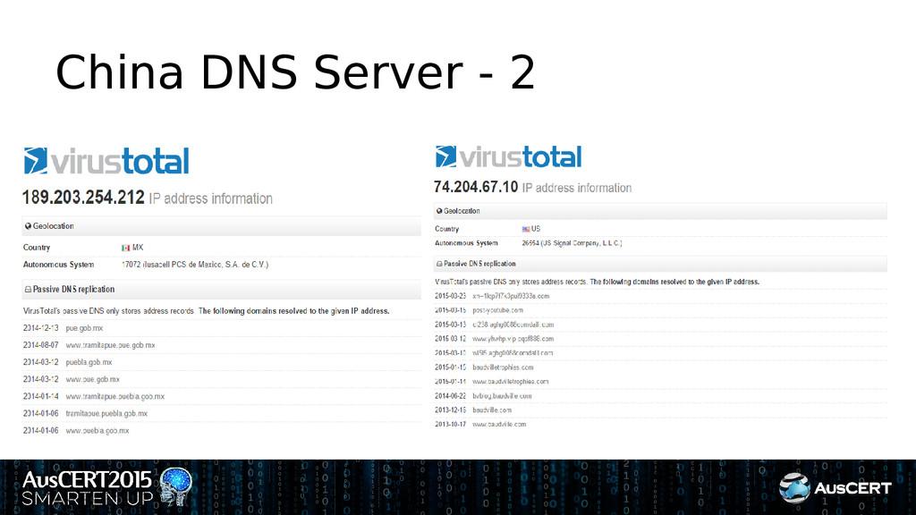 China DNS Server - 2