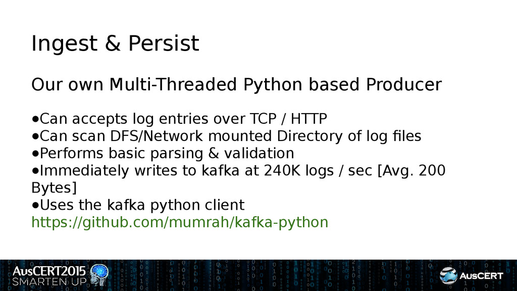 Ingest & Persist Our own Multi-Threaded Python ...