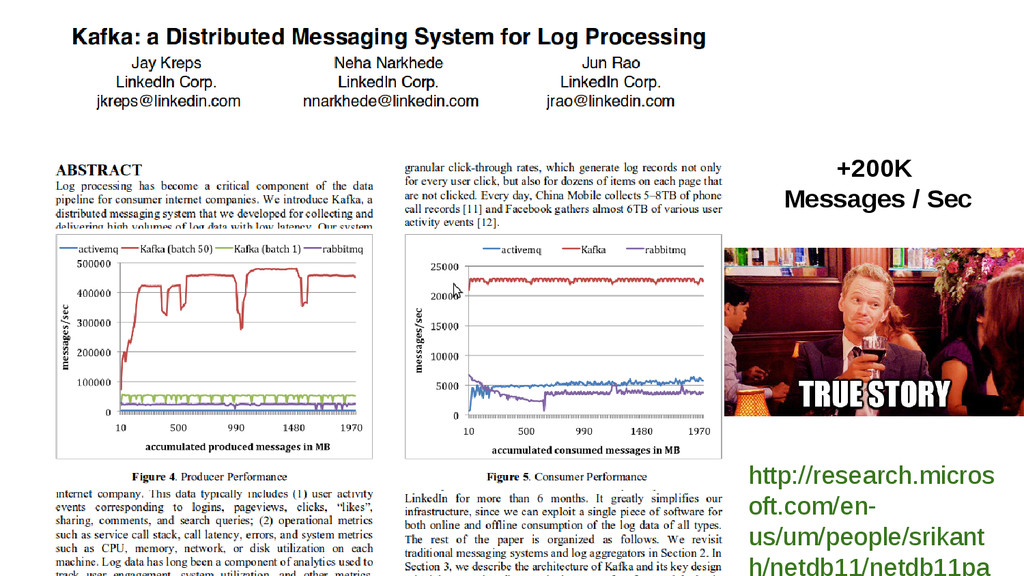 +200K Messages / Sec http://research.micros oft...