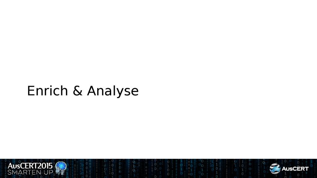 Enrich & Analyse