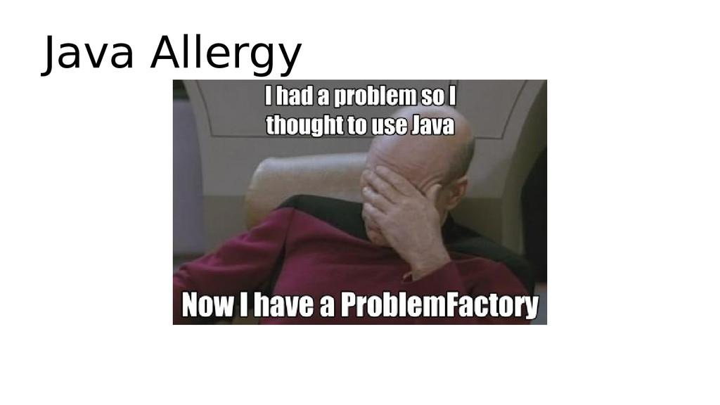 Java Allergy