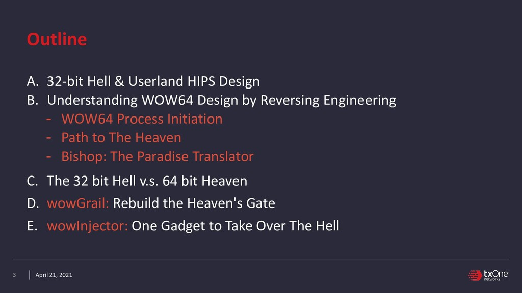 April 21, 2021 Outline A. 32-bit Hell & Userlan...