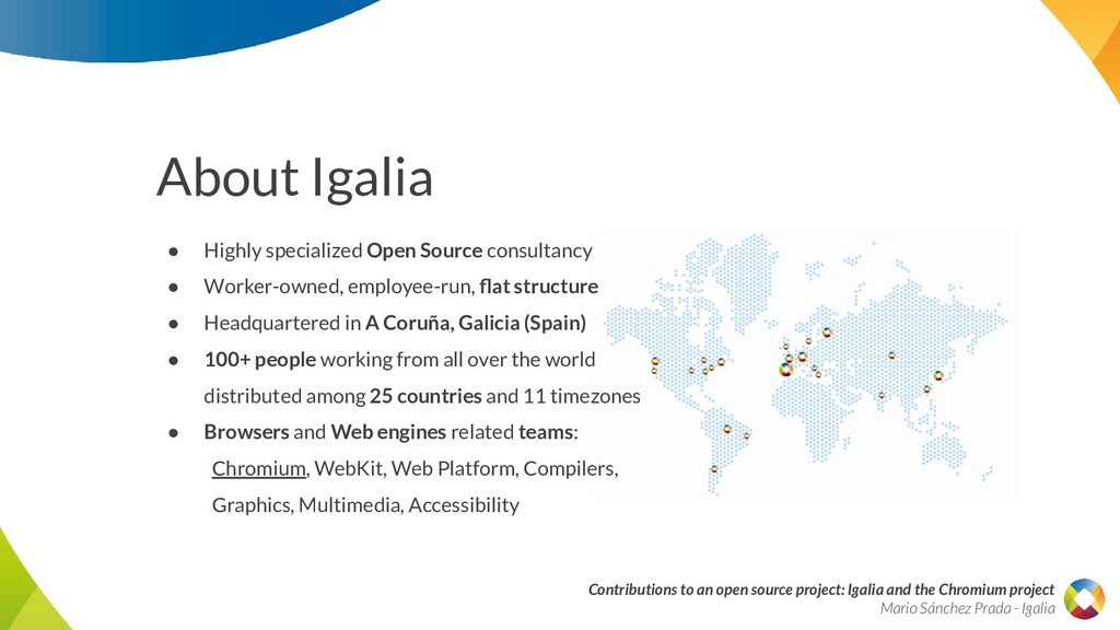 Contributions to an open source project: Igalia...