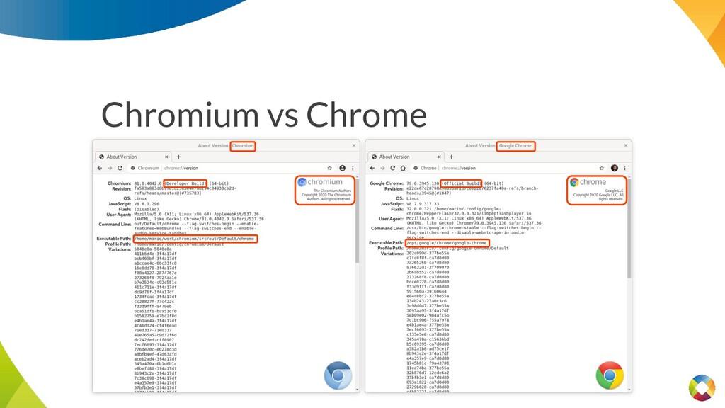 Chromium vs Chrome