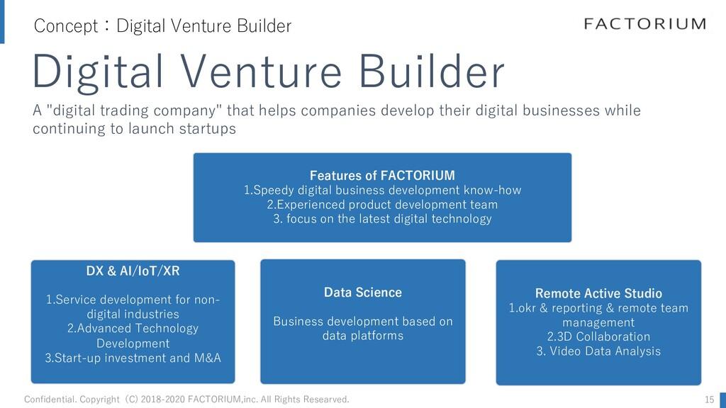 Concept:Digital Venture Builder Confidential. C...