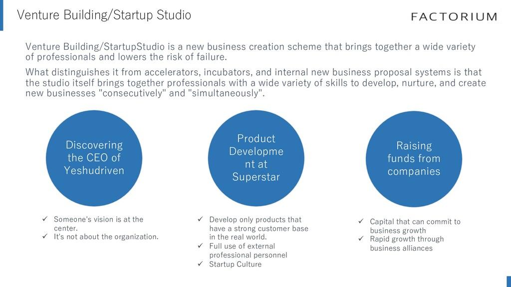 Venture Building/Startup Studio Confidential. C...
