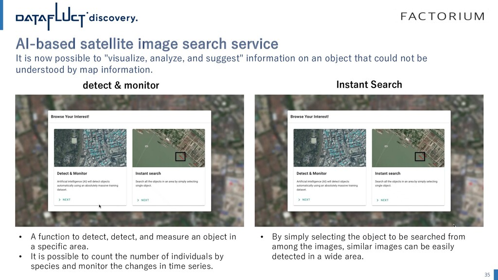 AI-based satellite image search service It is n...