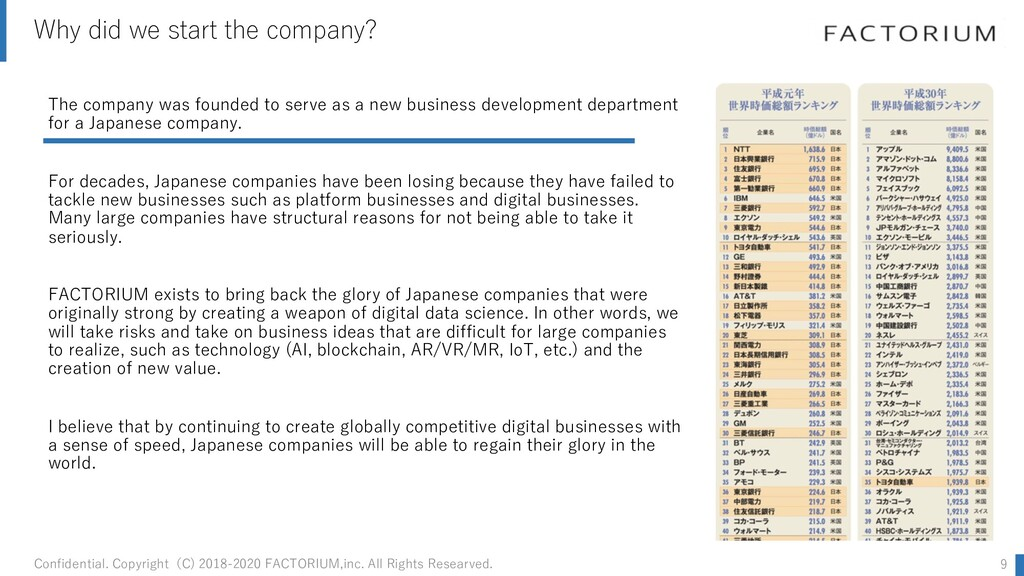 Why did we start the company? The company was f...