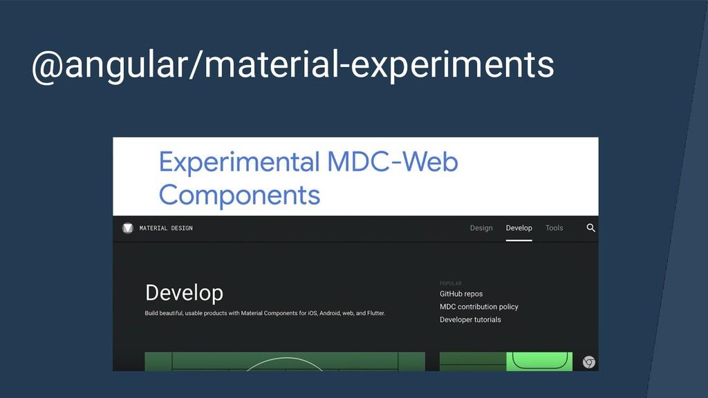 @angular/material-experiments