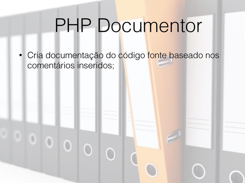 PHP Documentor • Cria documentação do código fo...