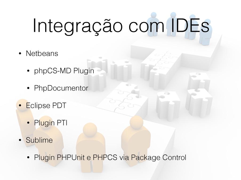 Integração com IDEs • Netbeans • phpCS-MD Plugi...
