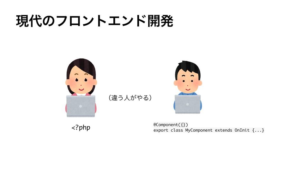 ݱͷϑϩϯτΤϯυ։ൃ <?php @Component({}) export class ...