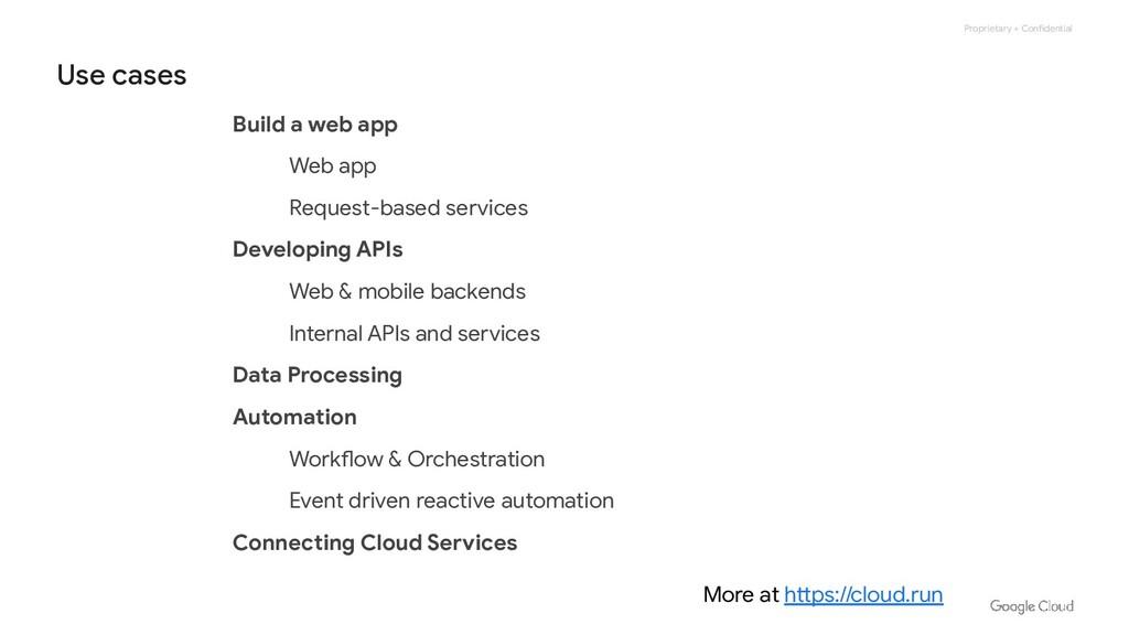 Proprietary + Confidential Build a web app Web ...