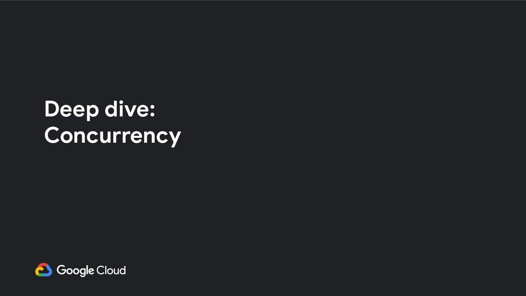 Deep dive: Concurrency