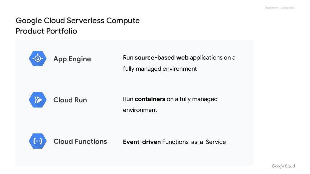Proprietary + Confidential Google Cloud Serverl...