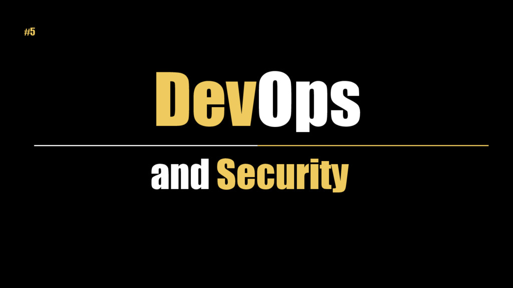 DevOps and Security #5