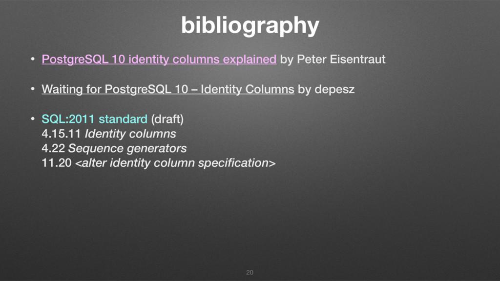 bibliography • PostgreSQL 10 identity columns e...