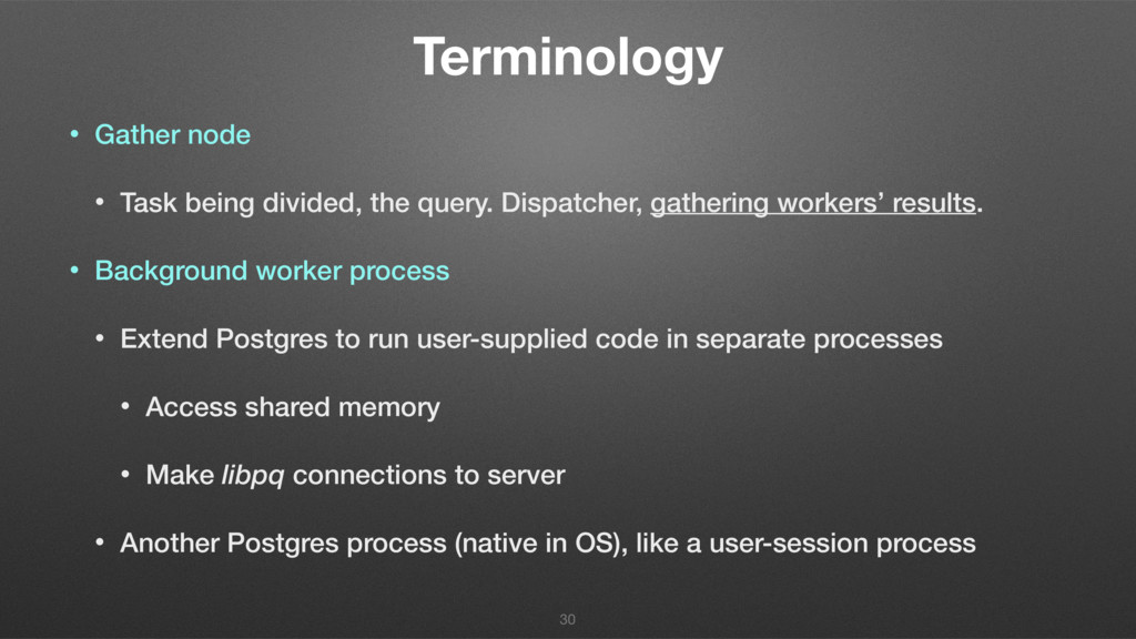 Terminology • Gather node • Task being divided,...
