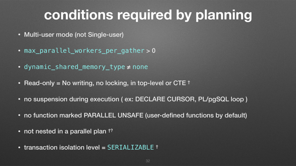 conditions required by planning • Multi-user mo...
