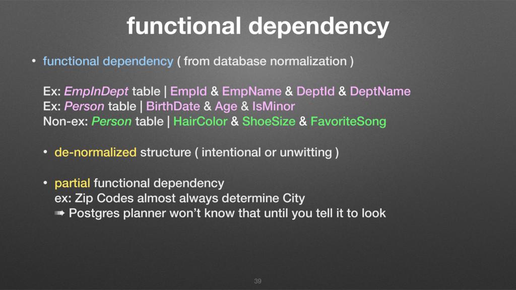functional dependency • functional dependency (...