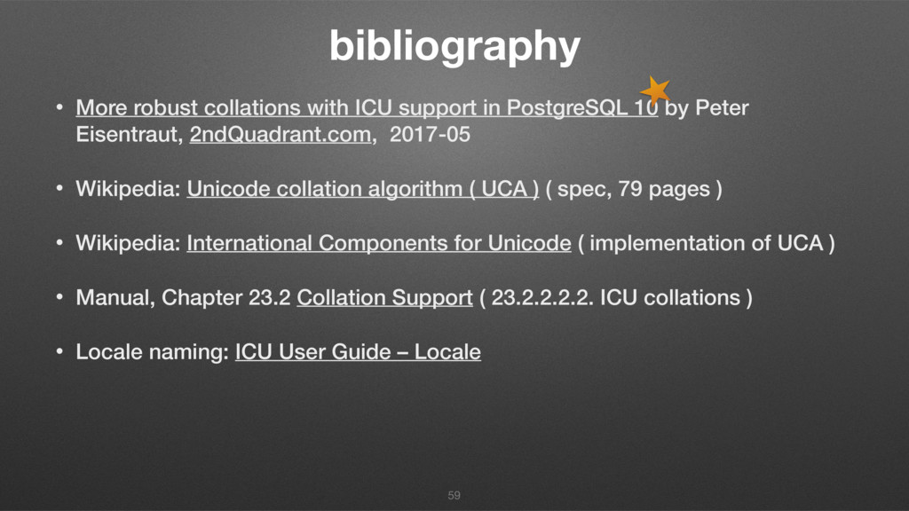 bibliography • More robust collations with ICU ...