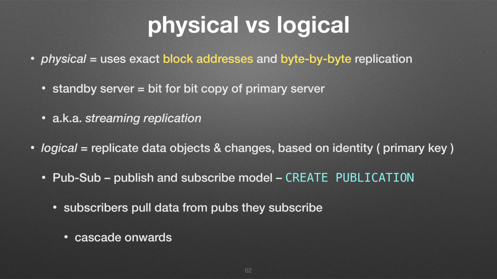 physical vs logical • physical = uses exact blo...
