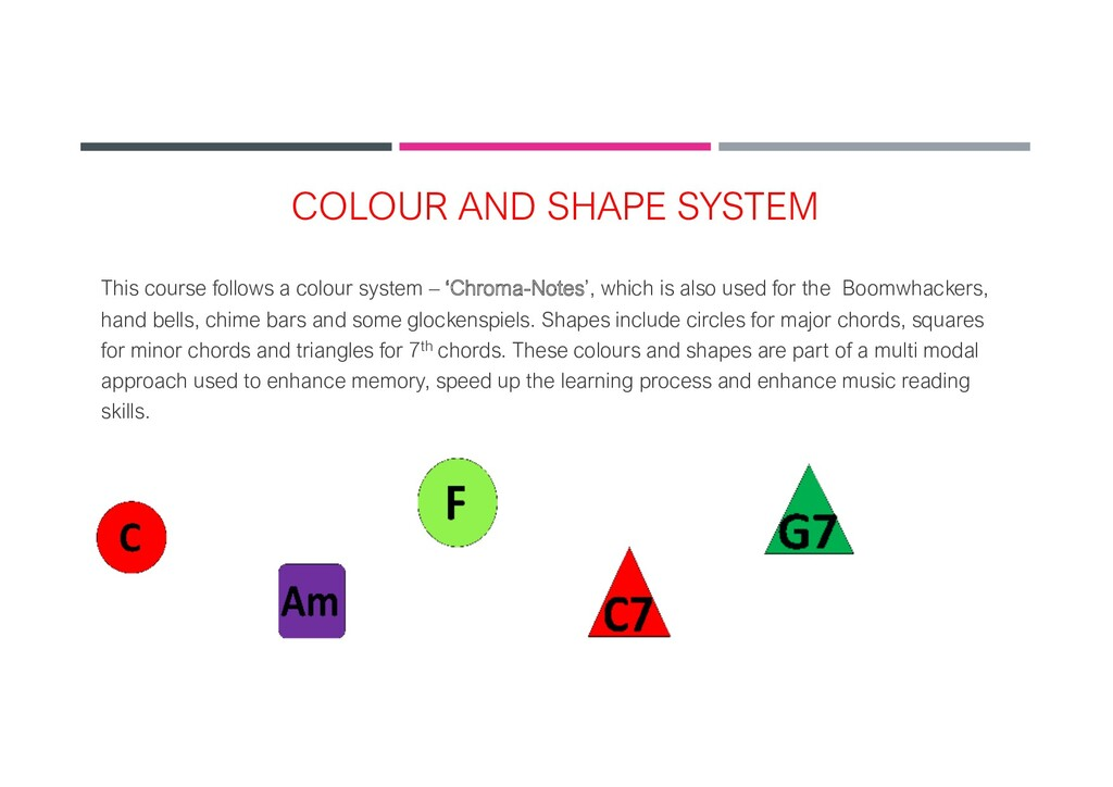 COLOUR AND SHAPE SYSTEM This course follows a c...