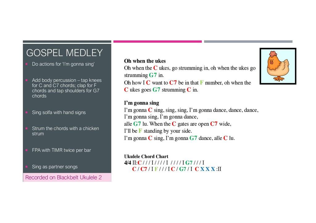 Recorded on Blackbelt Ukulele 2 GOSPEL MEDLEY ¡...