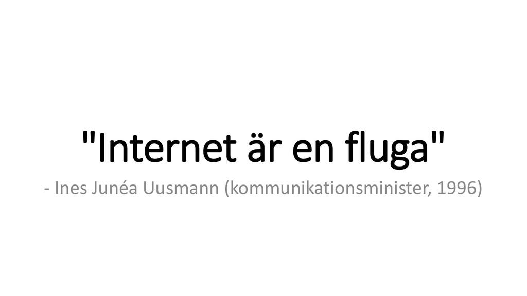 """""""Internet är en fluga"""" - Ines Junéa Uusmann (ko..."""