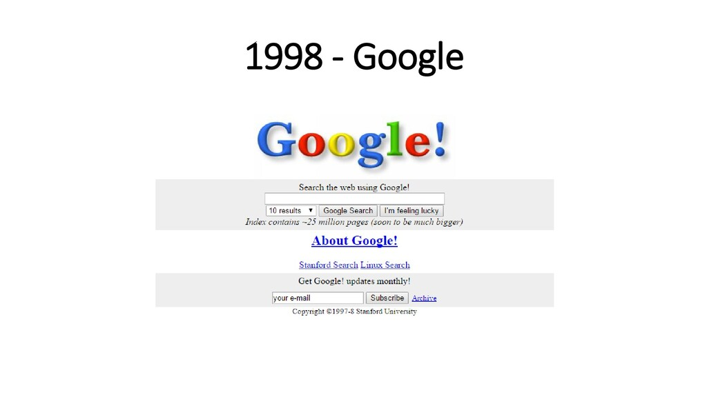 1998 - Google