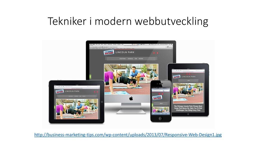 Tekniker i modern webbutveckling http://busines...