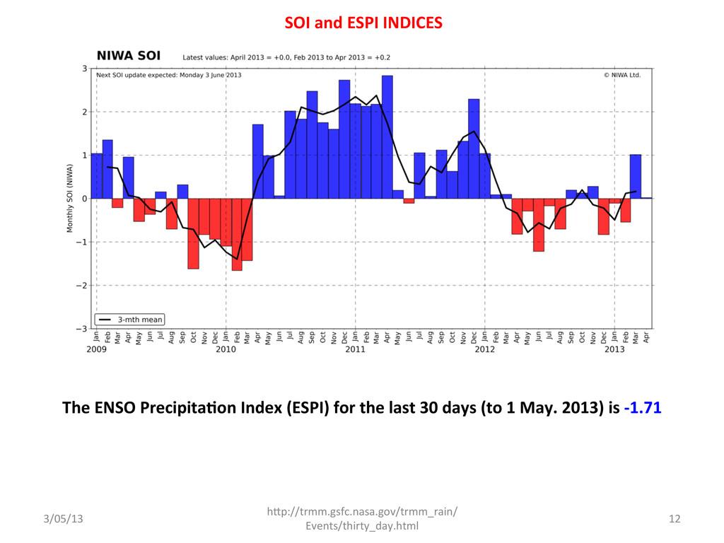 The ENSO Precipita<on Index (ESPI)...