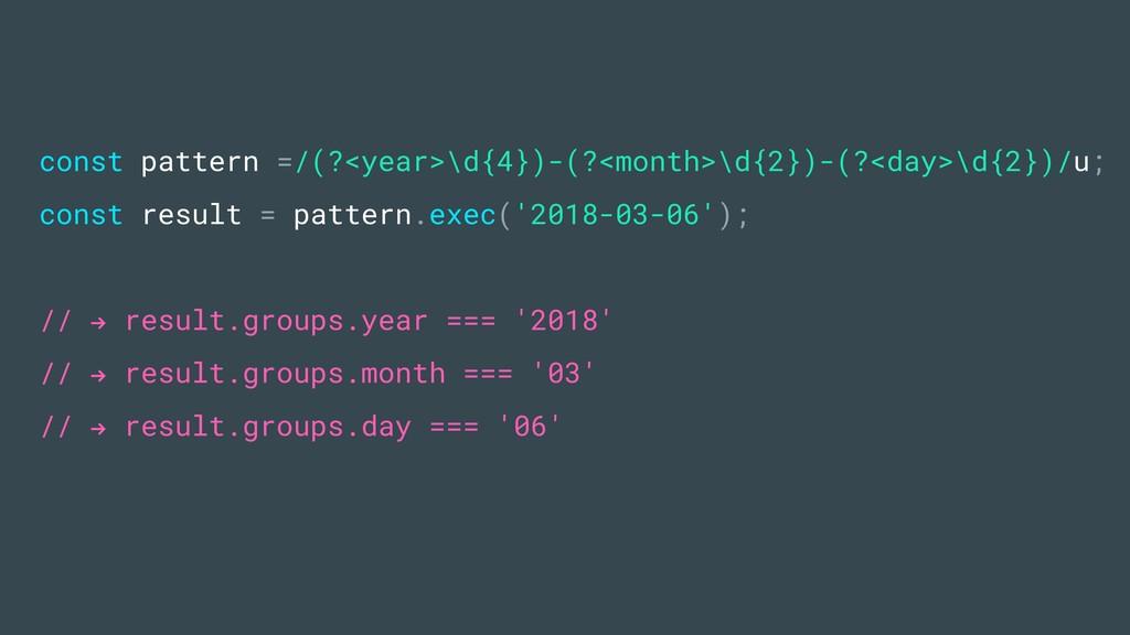 const pattern =/(?<year>\d{4})-(?<month>\d{2})-...