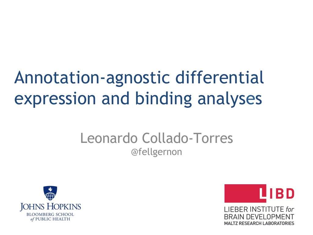 Annotation-agnostic differential expression and...