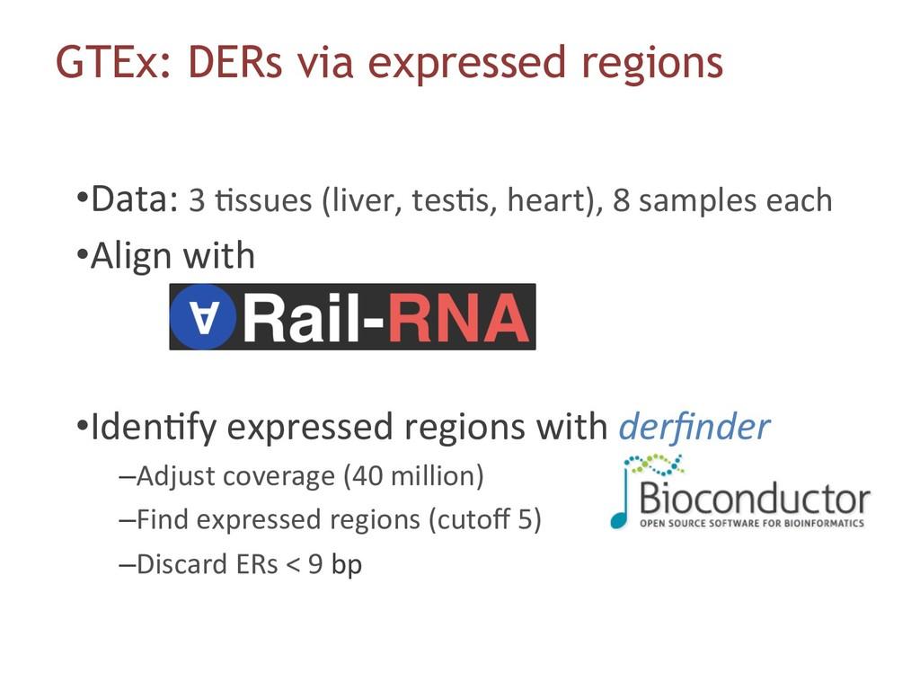 •Data: 3 6ssues (liver, tes6s, heart), 8 sampl...