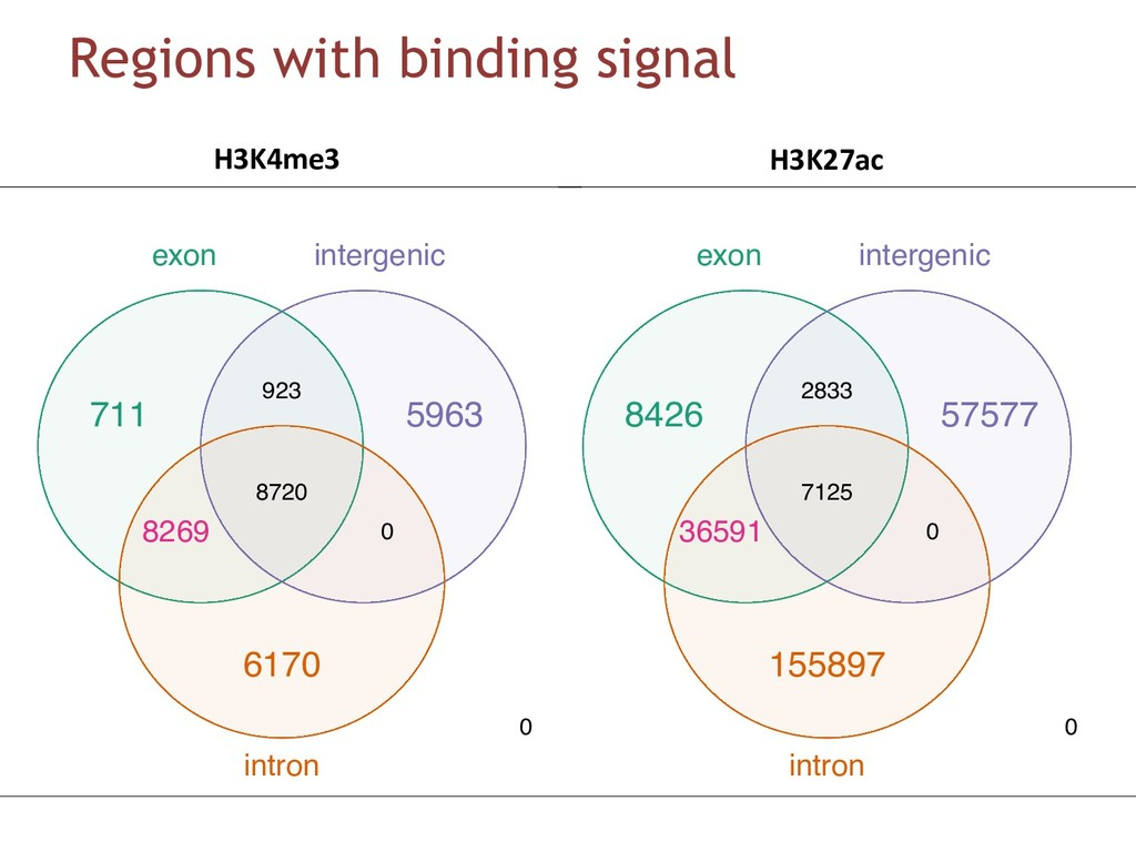 Regions with binding signal DBRs overlap with E...