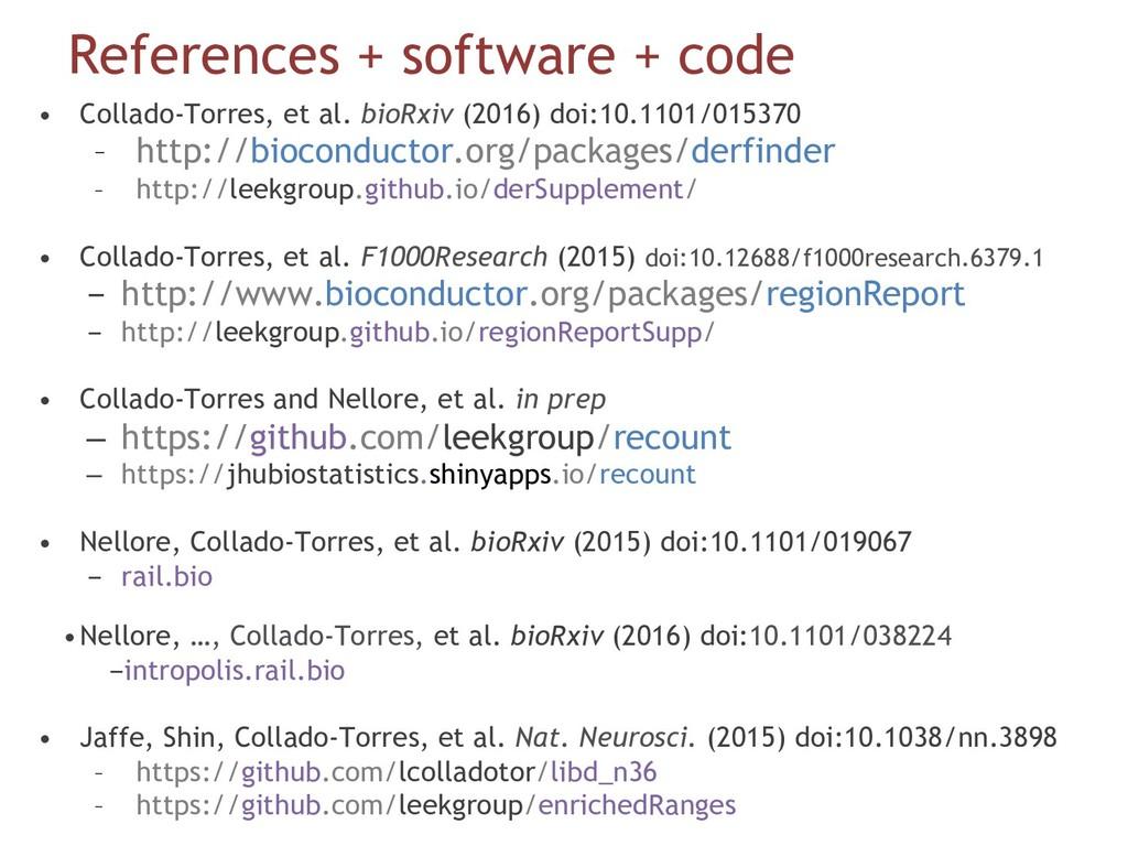 References + software + code • Collado-Torres,...