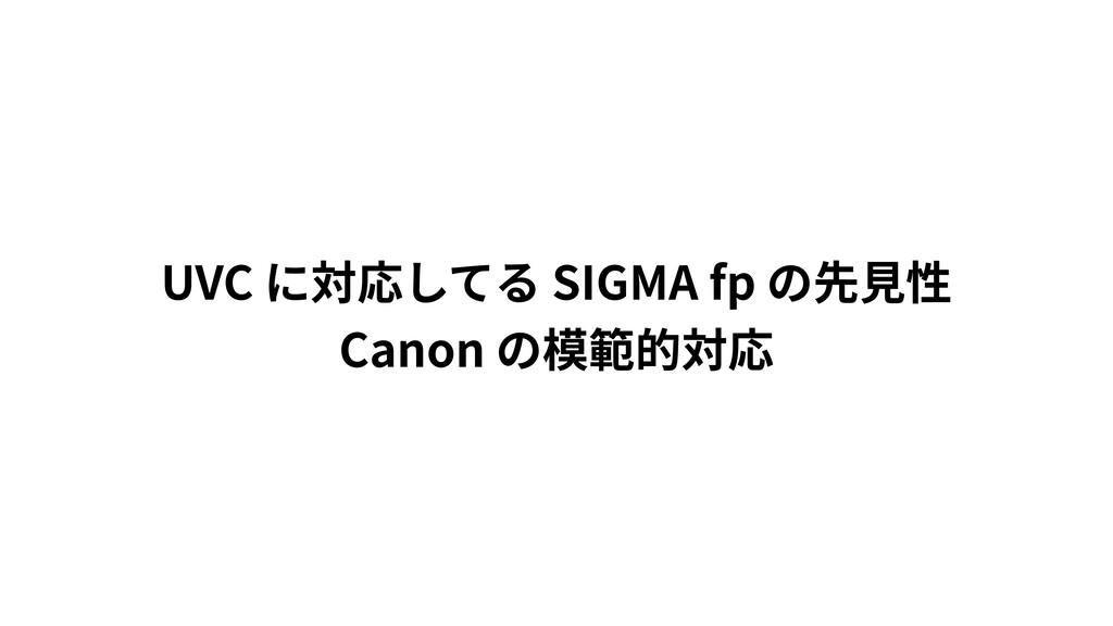 UVC SIGMA fp Canon