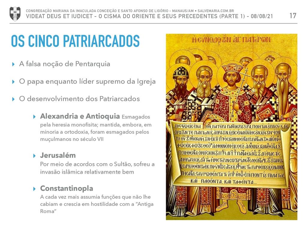 OS CINCO PATRIARCADOS ▸ A falsa noção de Pentar...