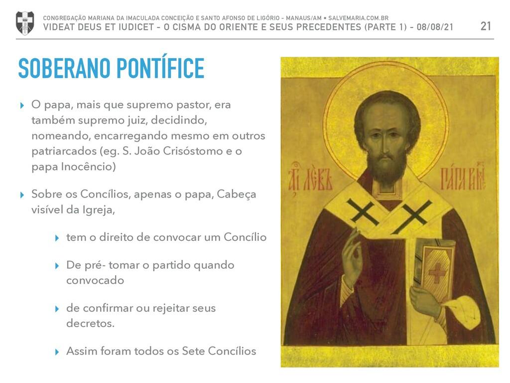 SOBERANO PONTÍFICE ▸ O papa, mais que supremo p...