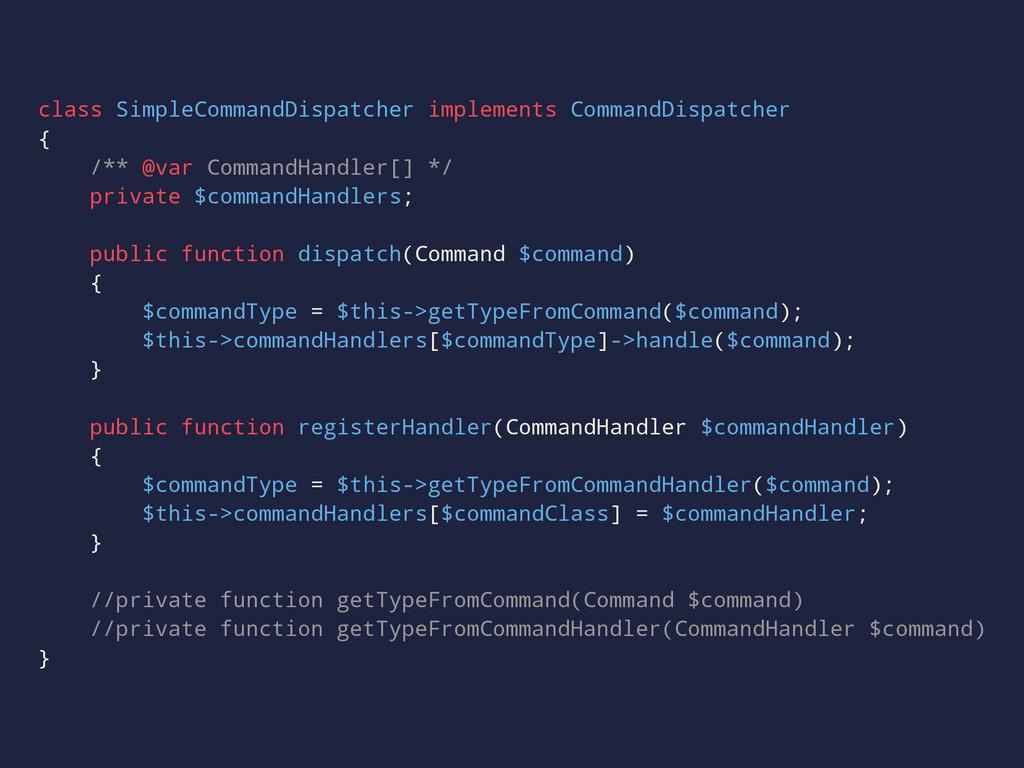 class SimpleCommandDispatcher implements Comman...