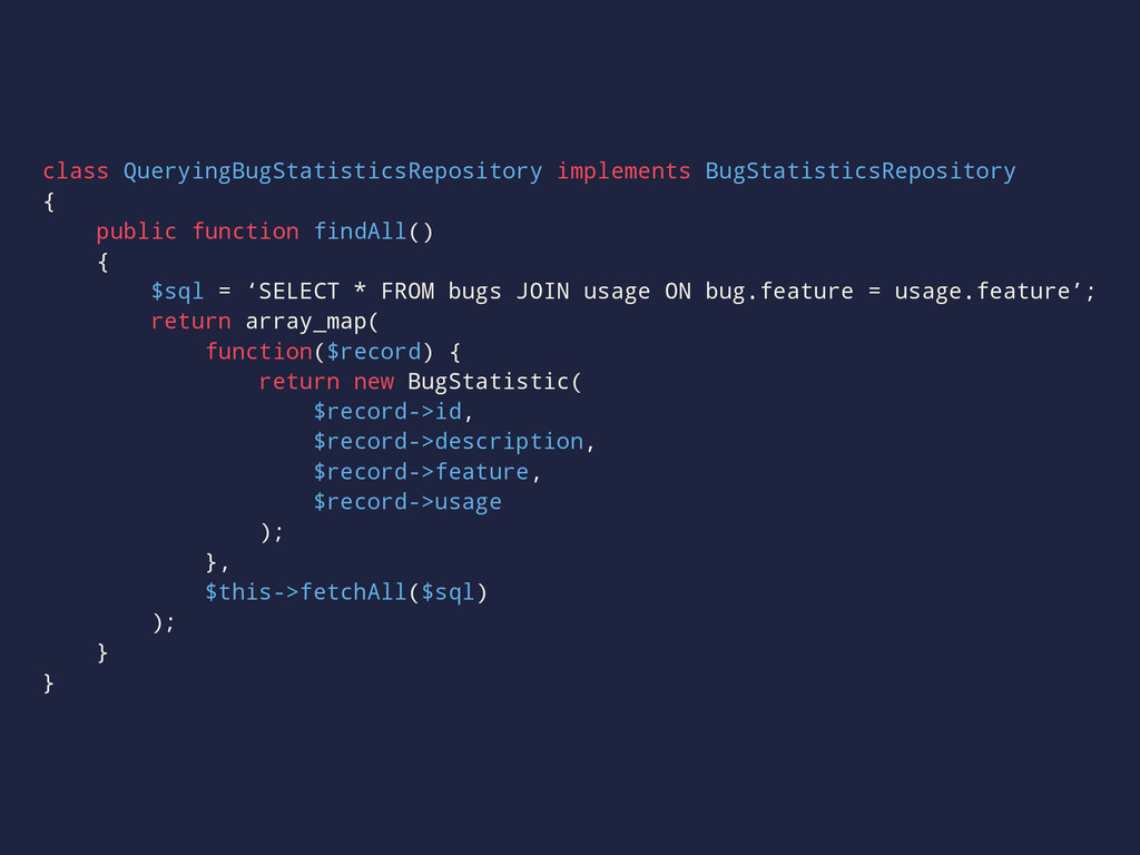 class QueryingBugStatisticsRepository implement...
