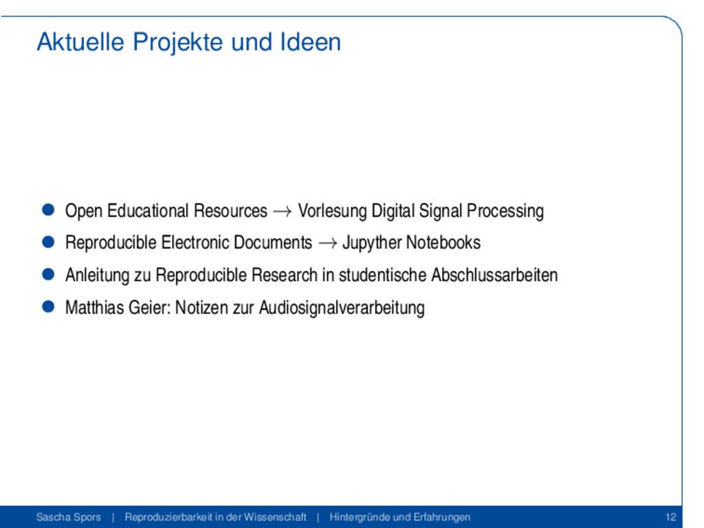 Aktuelle Projekte und Ideen Open Educational Re...