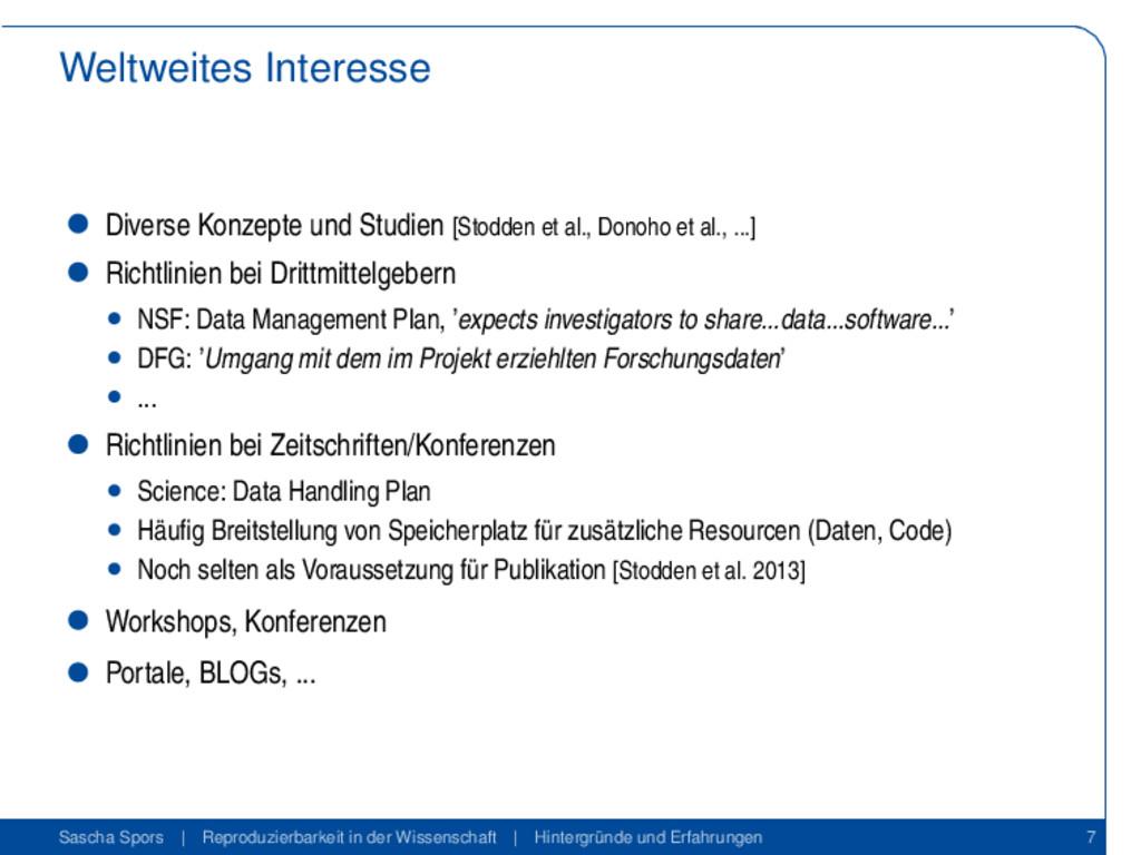 Weltweites Interesse Diverse Konzepte und Studi...