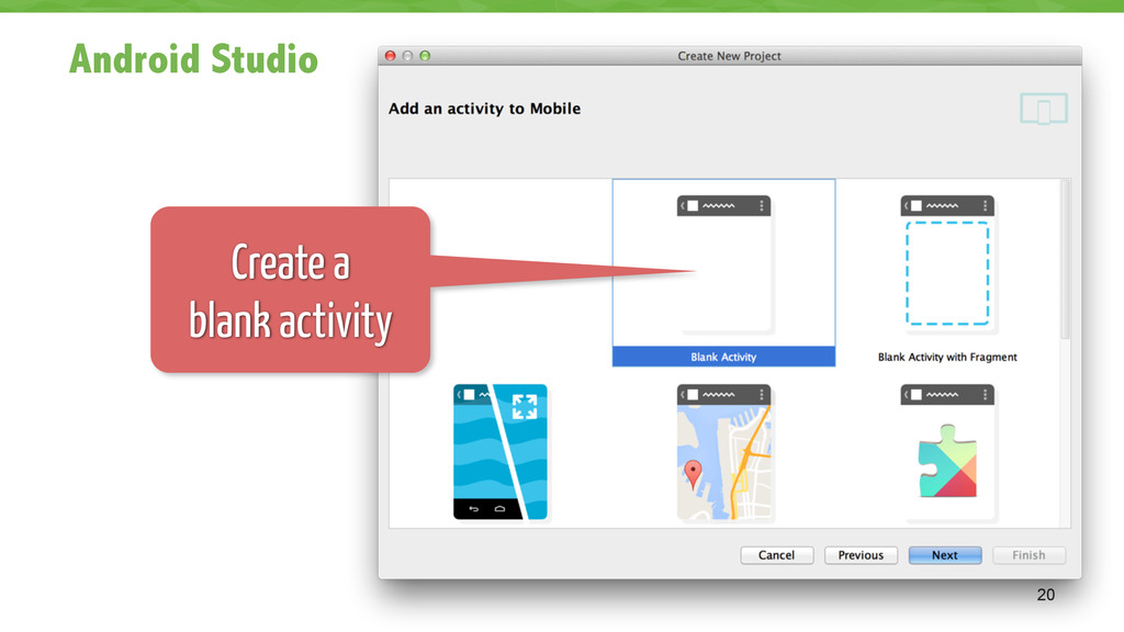 Android Studio 20 Create a 