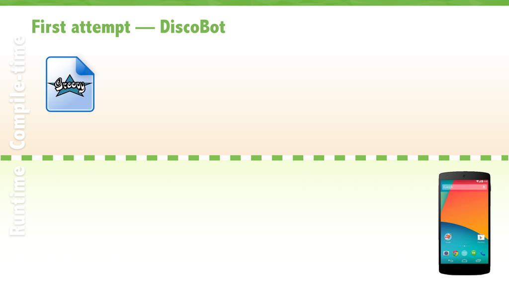 First attempt — DiscoBot 31 Compile-time Runtime