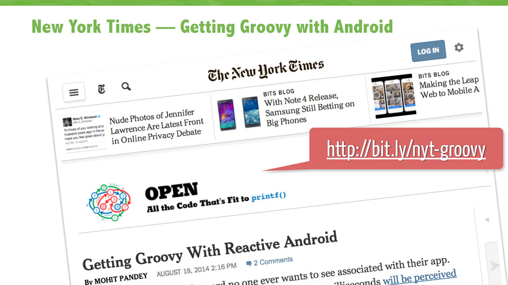 New York Times — Getting Groovy with Android 4 ...