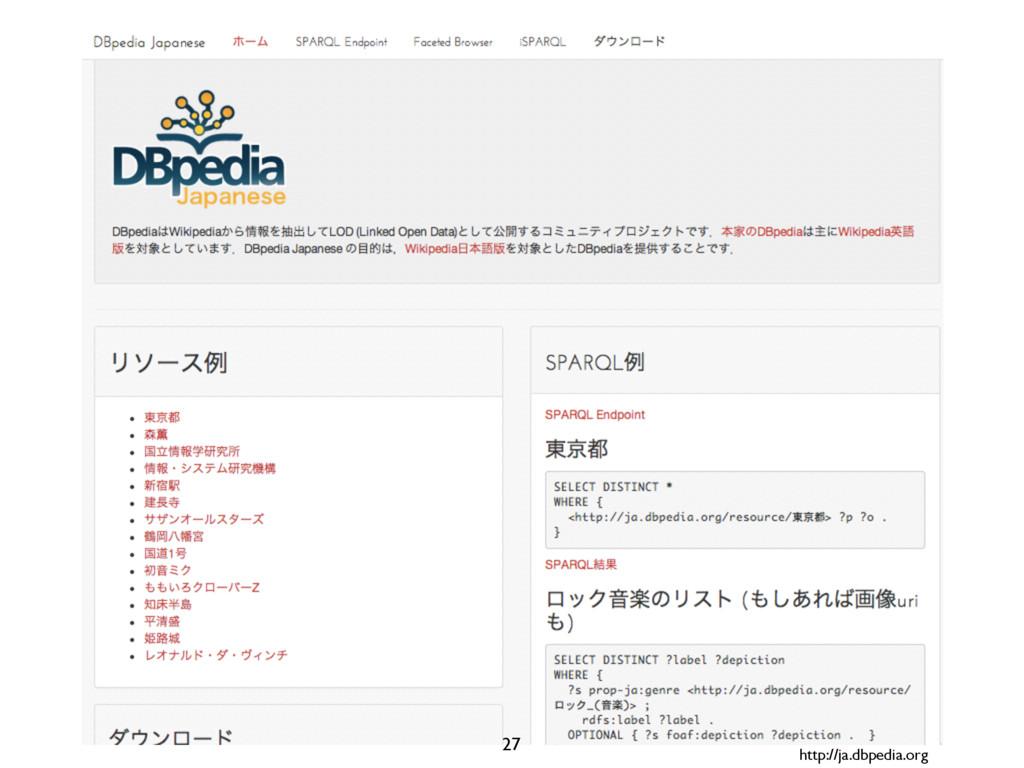 http://ja.dbpedia.org 27