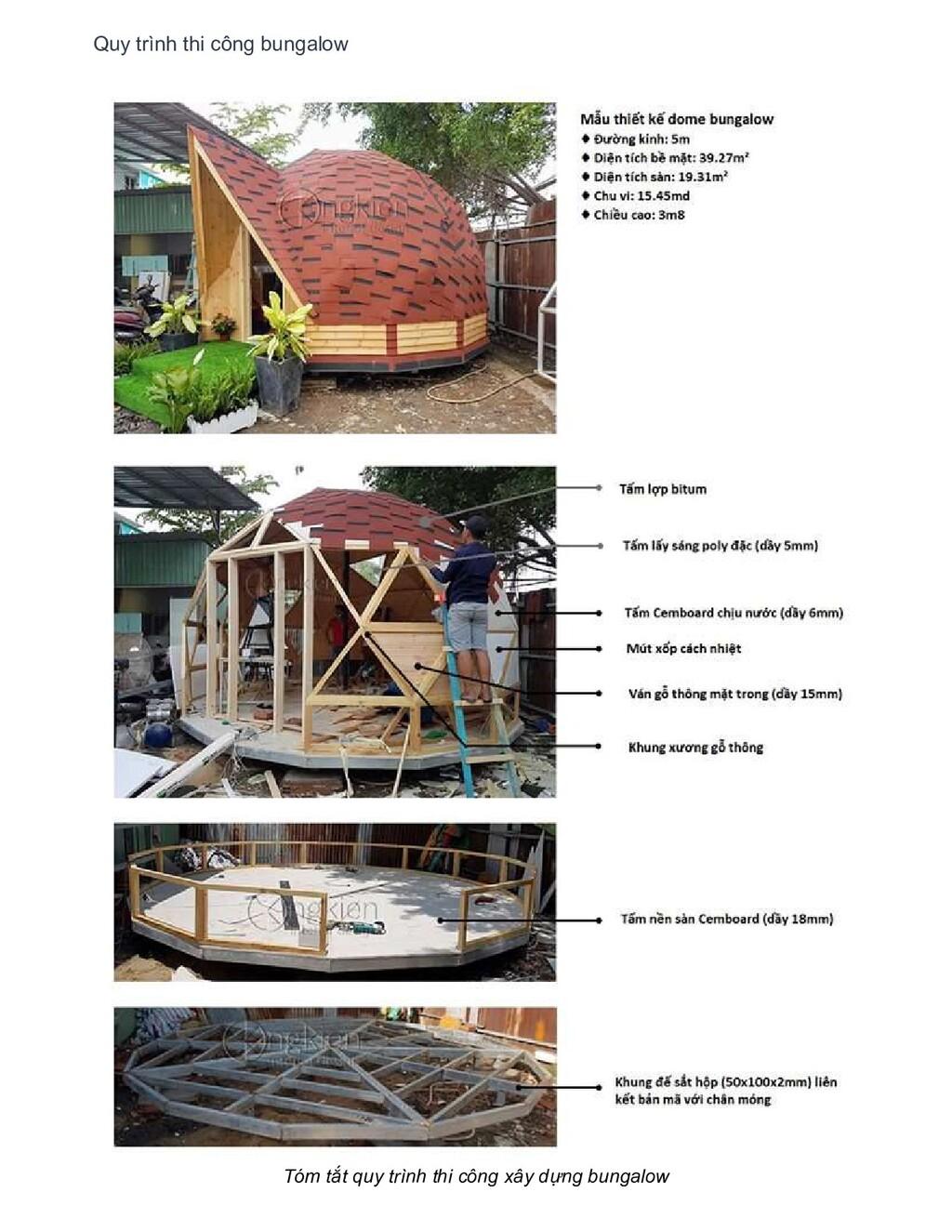 Quy trình thi công bungalow Tóm tắt quy trình t...