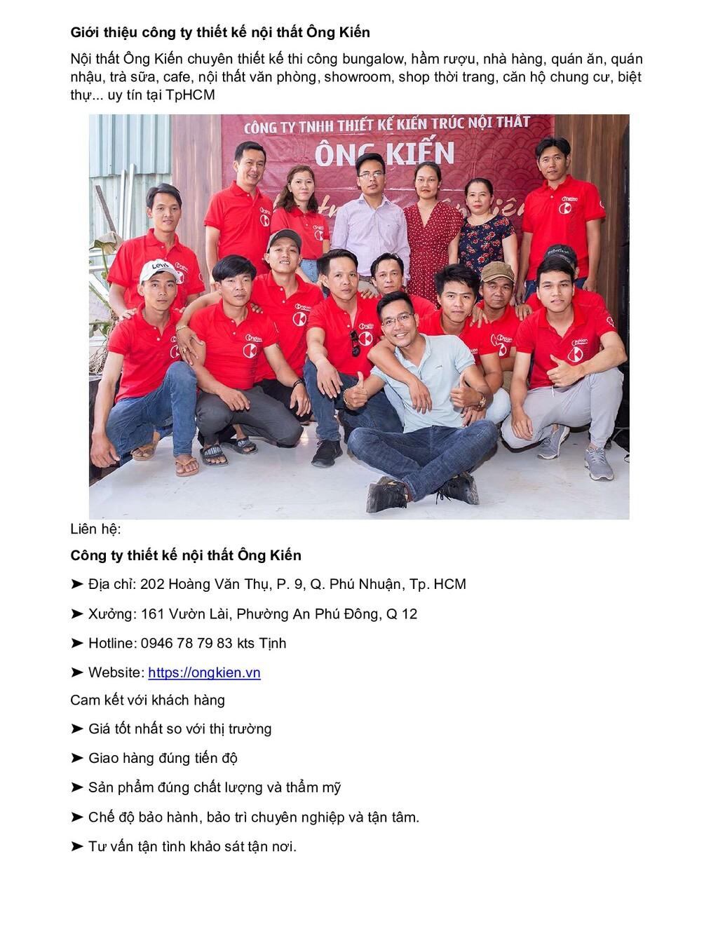 Giới thiệu công ty thiết kế nội thất Ông Kiến N...